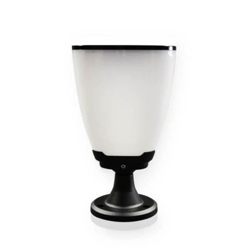 lampa solarna niska w kształcie kielicha