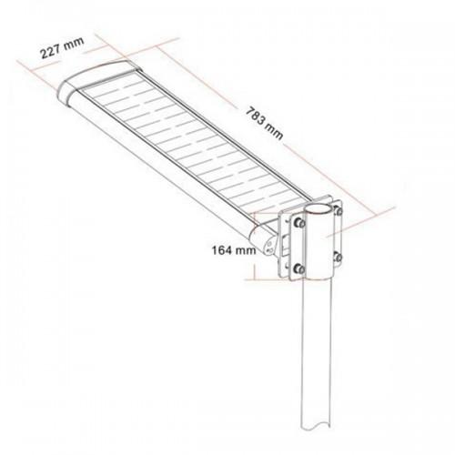 Uliczna latarnia solarna SLC-1200 wymiary