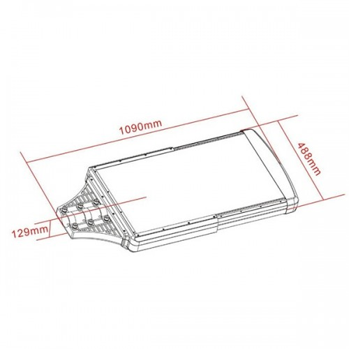 Wymiary - uliczna latarnia solarnia SLC-2000