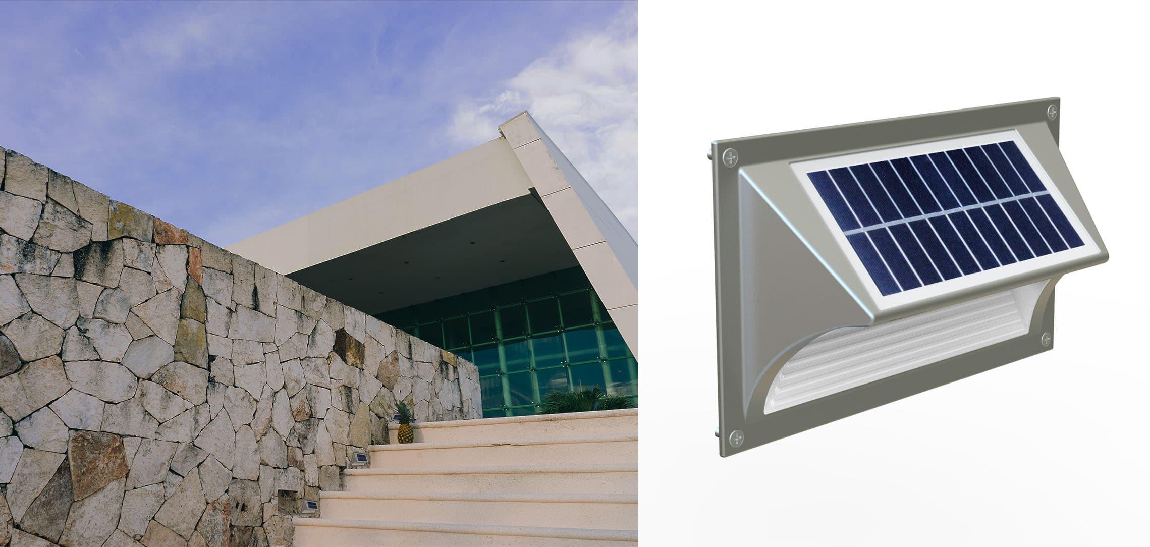 Solarna lampa schodowa SLC-06