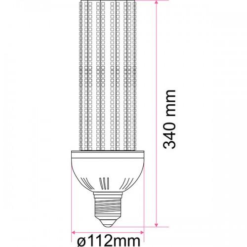 Wymiary żarówki przemysłowej CSN 120W