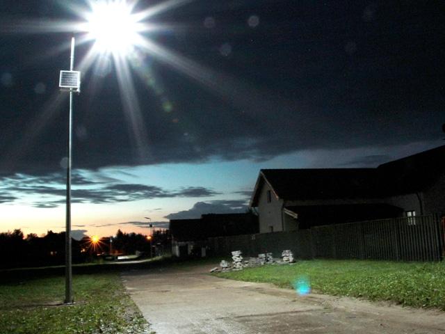 Realizacja dla Gminy Pasłęk - Latarnie Solarne LED marki Calidus.eu