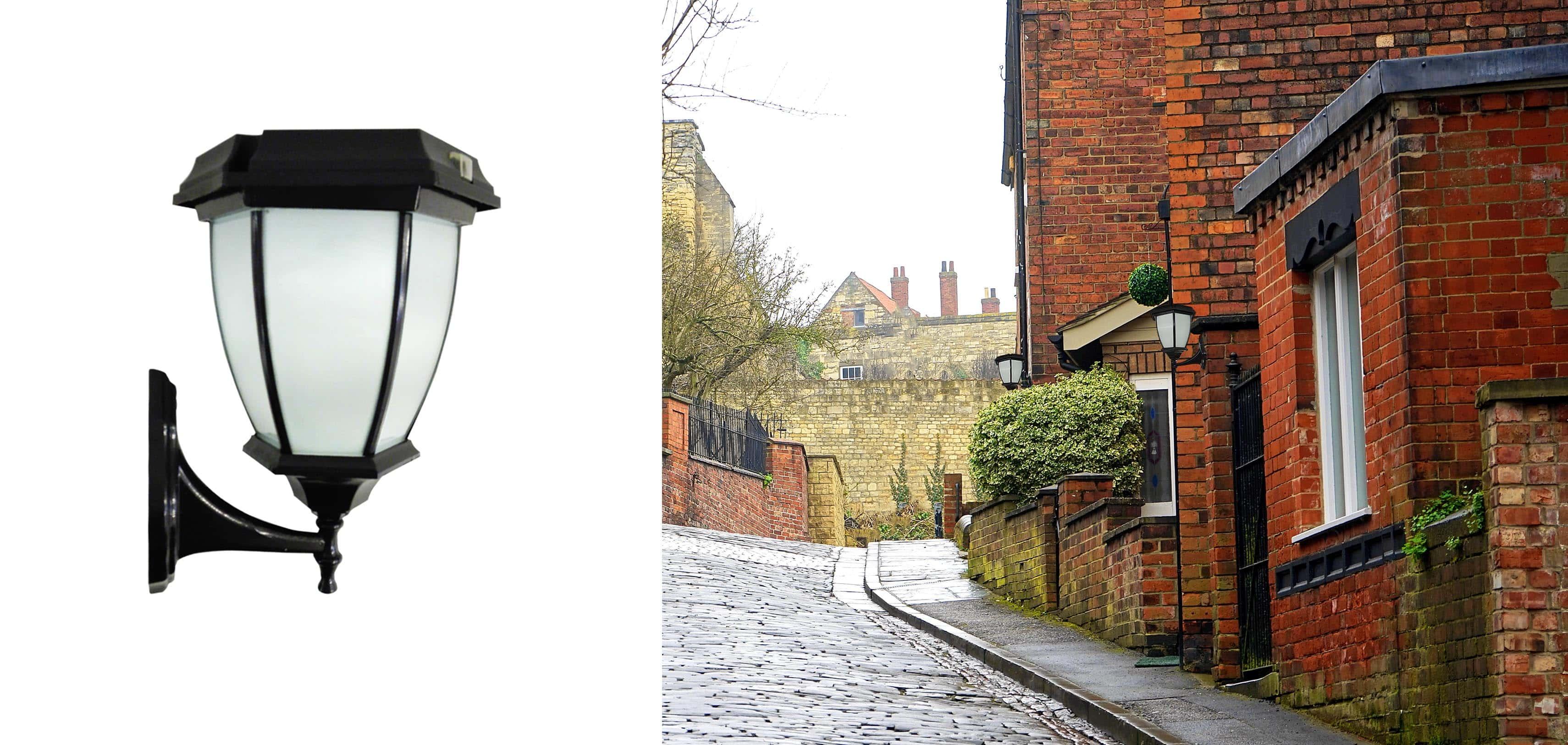 Solarna lampa ogrodowa retro
