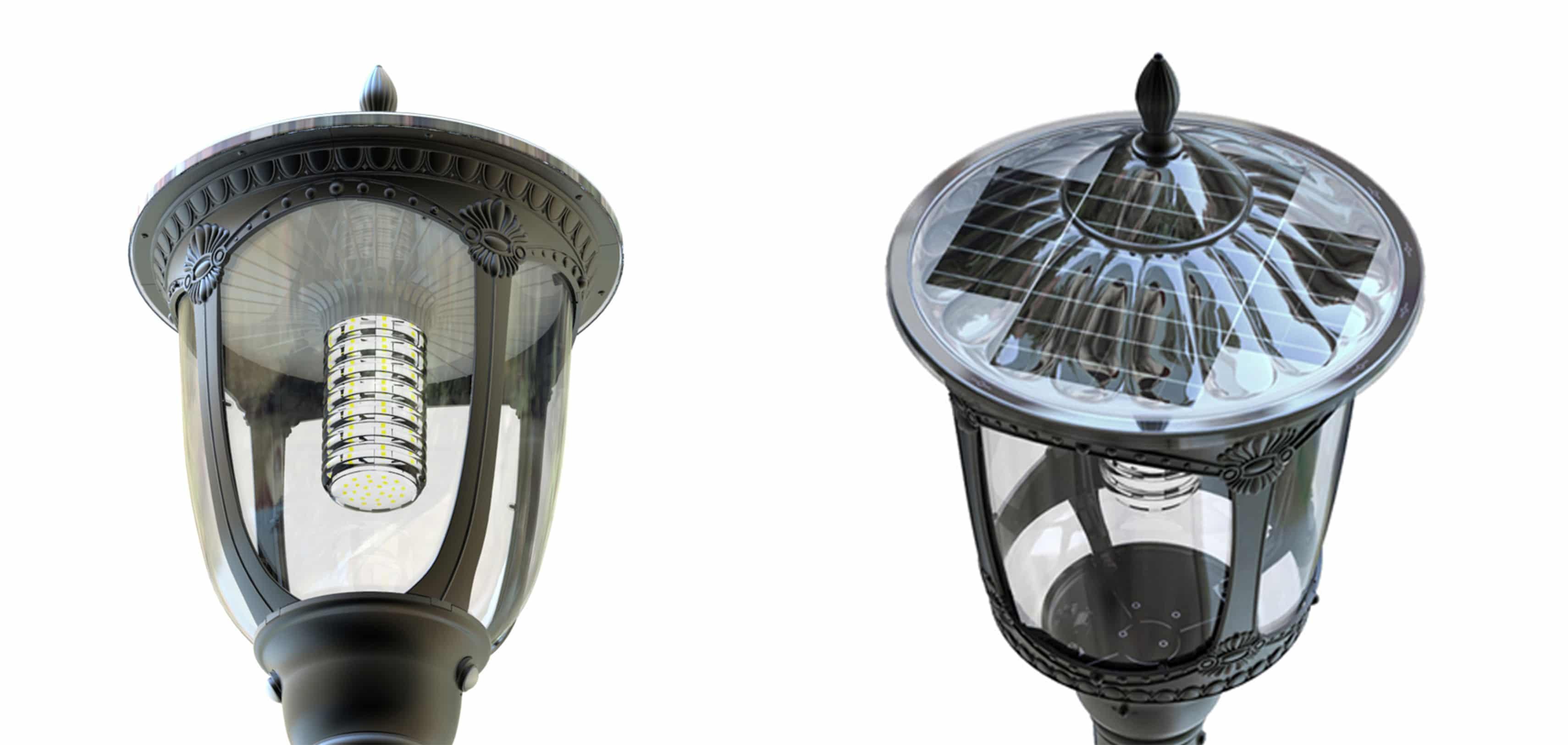 Solarna latarnia trójramienna
