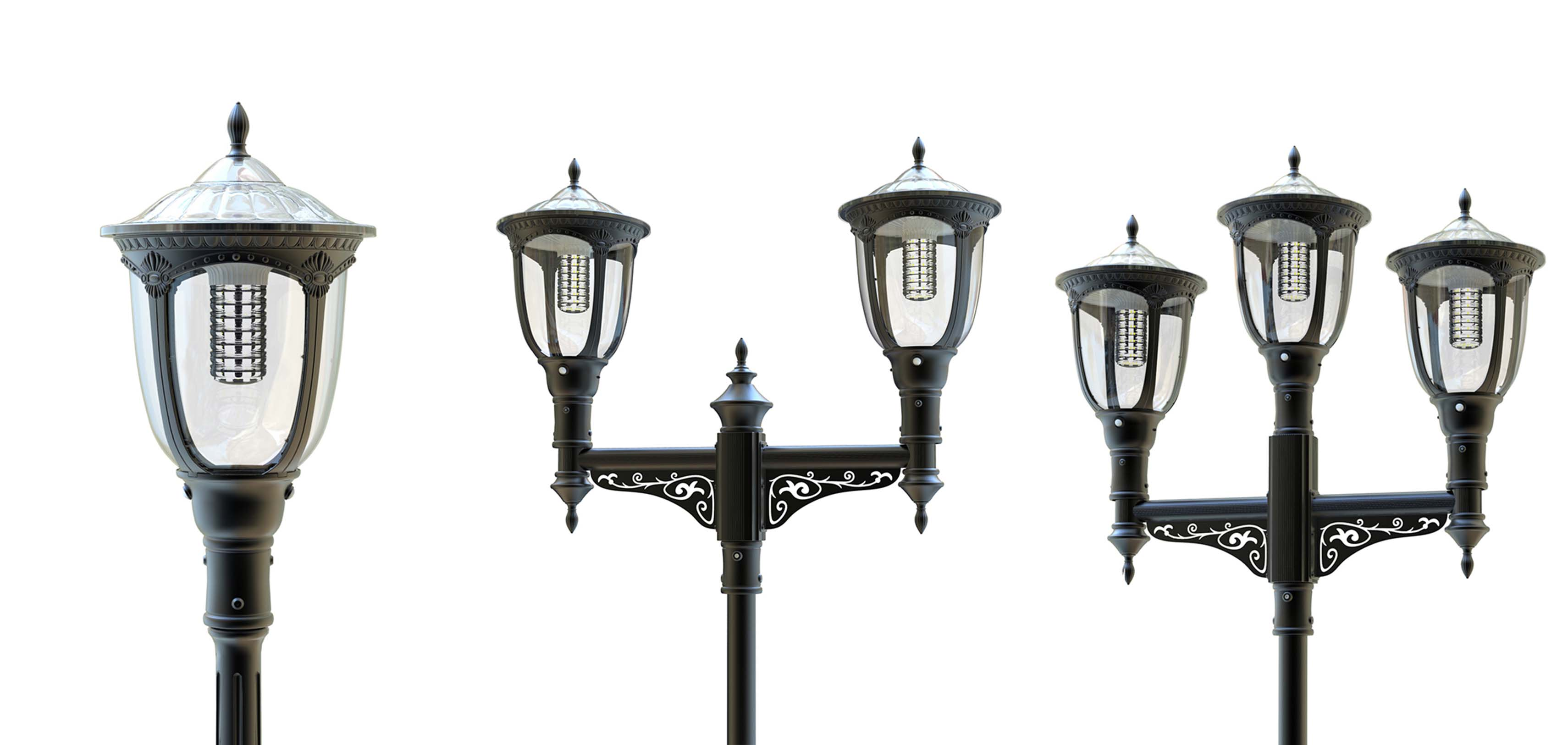 solarna lampa czteroramienna