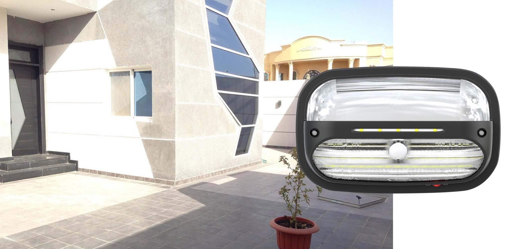 Lampa solarna na ścianę