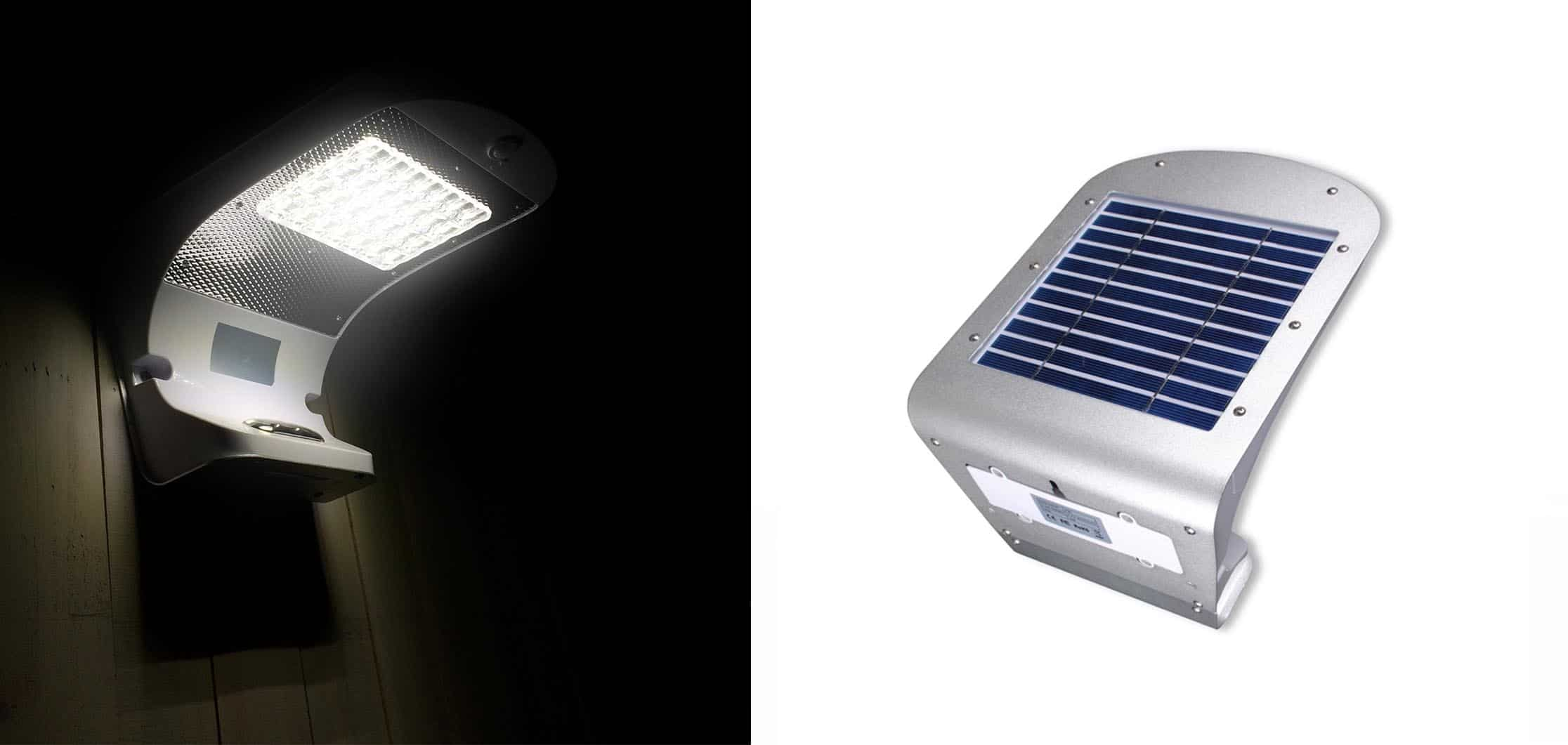 Lampa solarna naścienna - kinkiet