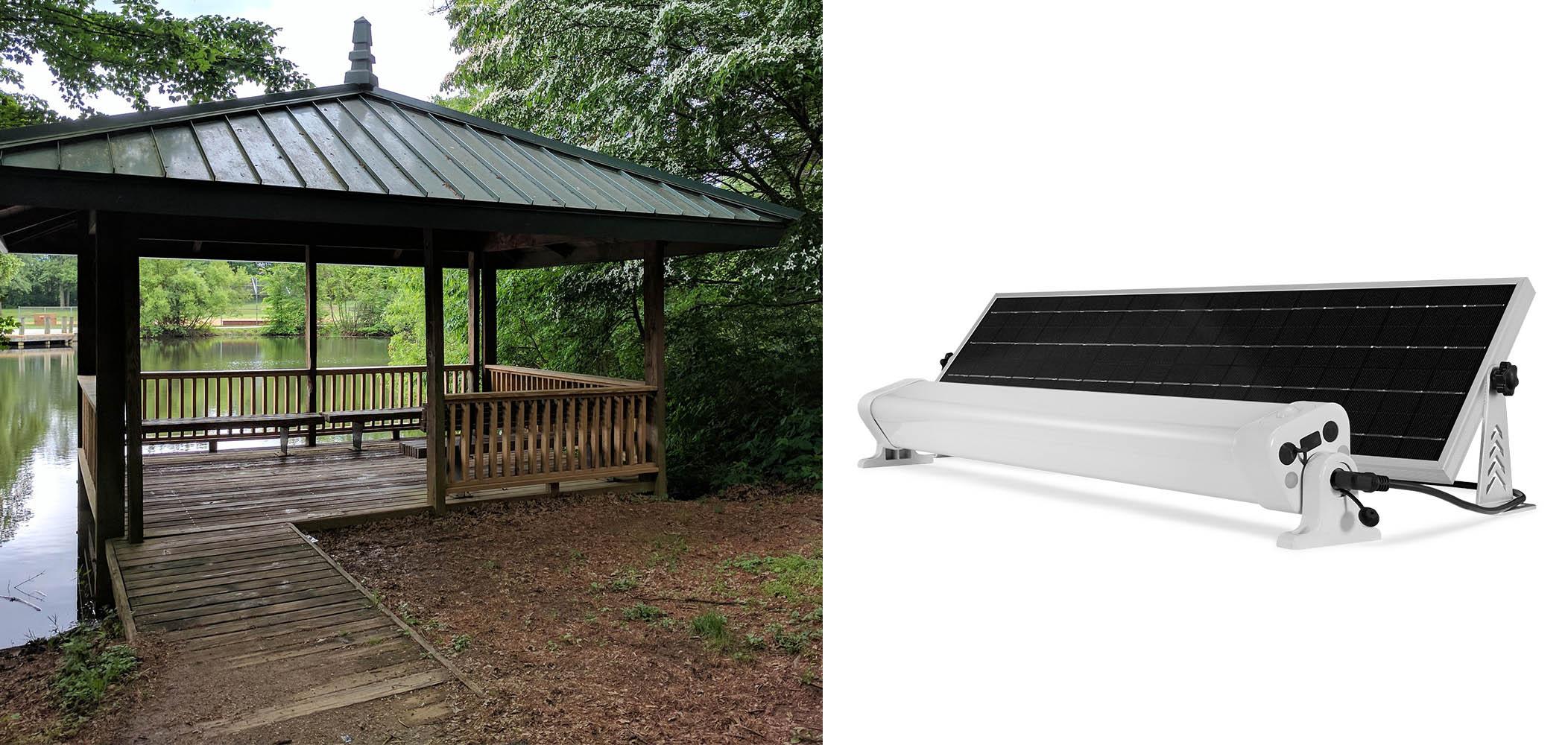Zestaw Solarny Z Lampą 24w Led Slc 2460 Oświetlenie Garażu Wiaty