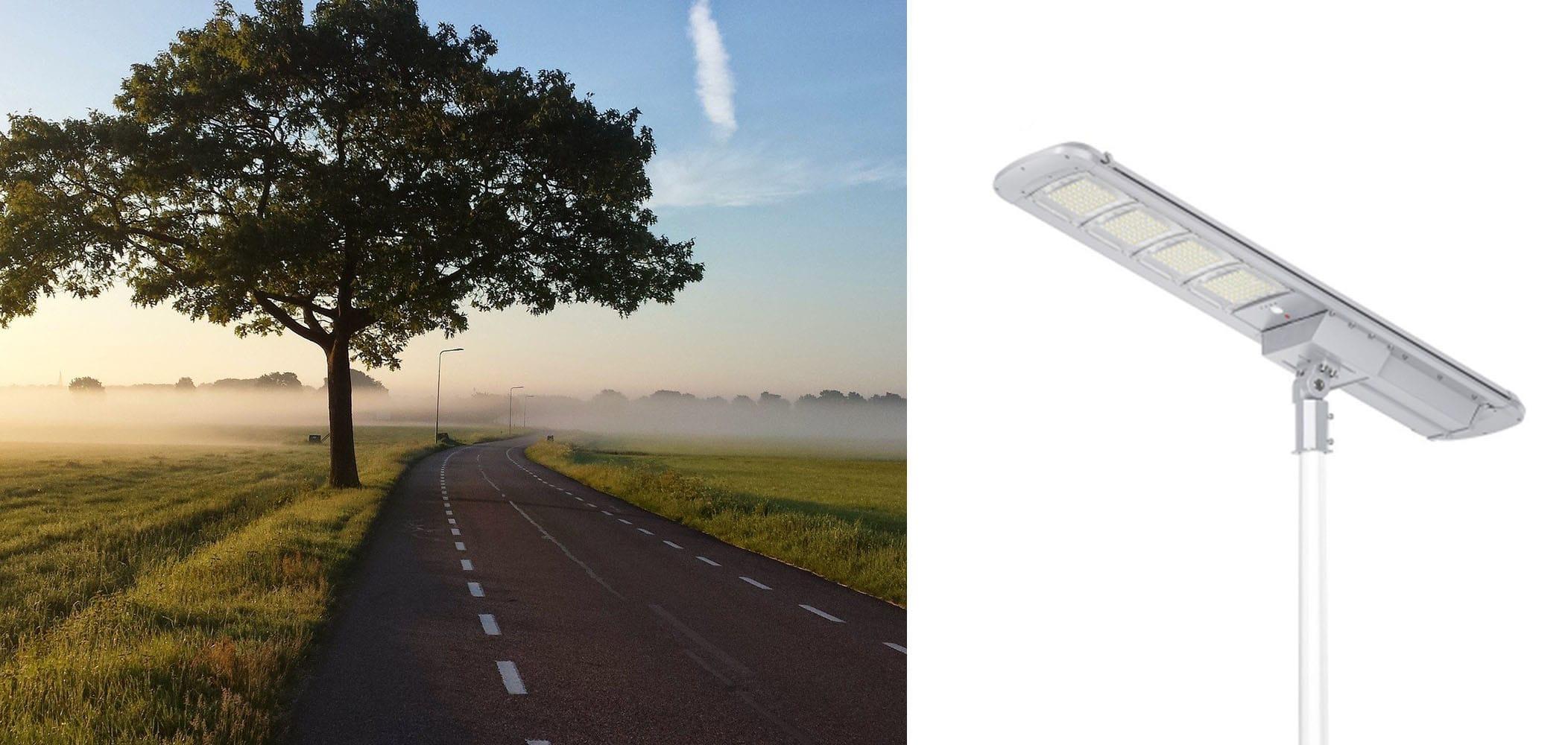 Hybrydowa latarnia solarna SLC
