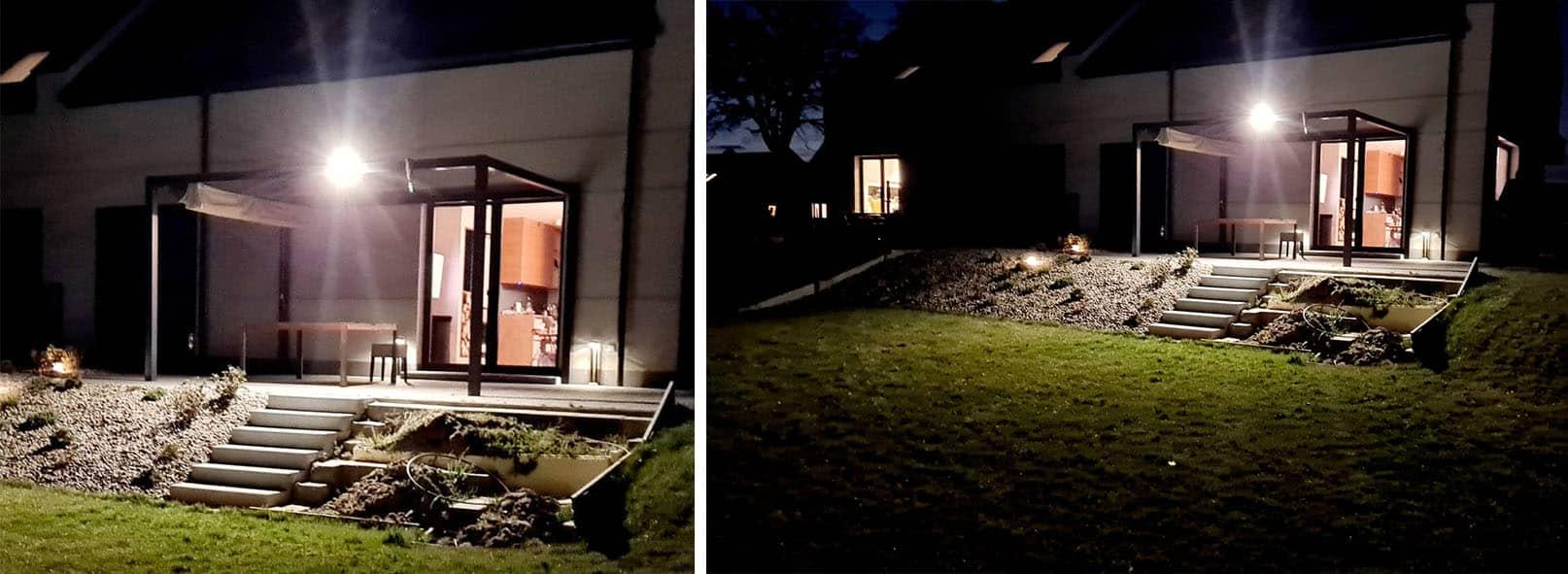 Solarny Kinkiet LED